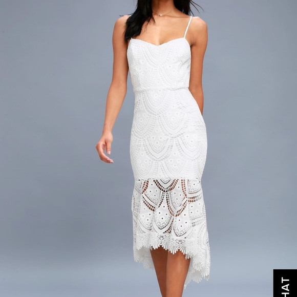 e0ceed0df2 Lulu s Dresses   Skirts - Lulus Pure Passion White Lace bodycon midi dress